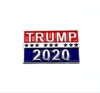 Donald Trump Buttons Pins 2020 presidente da campanha eleitoral América do emblema Supporter presente fornece itens Broche Novidade DDA58