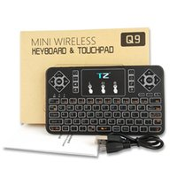 Teclado inalámbrico Bluetooth Flying Mouse Q9 Mini Teclado Bluetooth inteligente multitáctil con tres colores para computadora portátil Laptop Mac PC de escritorio