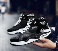 ayakkabı şok emilimi kaymaz erkek koşu ayakkabıları Sıcak Satış 2018 yeni erkek büyük boy yüksek üst basketbol ayakkabıları rahat spor