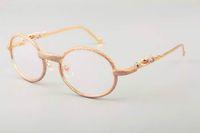 Nova DHL frete grátis Início Luxury Golden Leopard metal do diamante Óculos FrameT7550178Quality Glasses Frame Frame completa Diamond Tamanho 55 -22-140