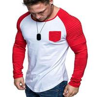 Los hombres camisas Sun Block arrugado puños costura de cajera debajo de las camisas térmicas Protección de la piel al aire libre Deportes Camisas