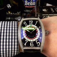 글로벌 핫 고급 남성용 시계 실버 다이아몬드 케이스 시계 가죽 스트랩 시계 자동 기계 스포츠 시계