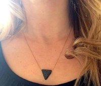 Эфирное масло диффузор ароматерапия ожерелье треугольник Лава шарик камень ювелирные изделия свободный корабль