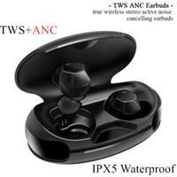 Verdadeira ANC TWS Ativo cancelamento de ruído sem fios Bluetooth fone de ouvido Earbuds 1536u Bluetooth 5.0 in-Ear IPX5 impermeável TWS ANC