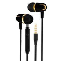 Dans Ear Courir Sport filaire Earplug casque avec microphone pour Android pour téléphone intelligent