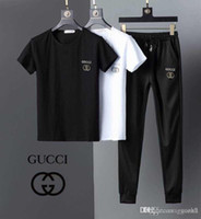 18ss Two Piece Set Men Short Sleeve Men Tracksuits T Shirt C...