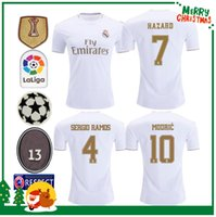 Player version 19 20 Real madrid HAZARD Soccer Jersey Benzema football Modric Kroos Sergio Ramos Bale Marcelo james 2019 2020 camisetas