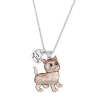 10PCS / الكثير أوروبا وأمريكا حار منتجات جديدة الحيوانات الأليفة قلادة القط قلادة الأبجدية الوسم مجوهرات النساء T-121