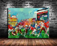 Football Comparison-1, Canvas Painting Living Room Home Decor Pittura a olio moderna di arte murale