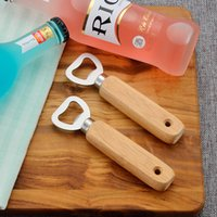 Деревянная Открывашка Для Бутылок Вина Пиво Ручка Ручной Бармен Soda Стеклянная Крышка Открывалка Кухонный Бар Инструменты Творческий Дизайн Отверстия