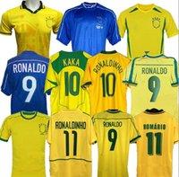 1998 Home Soccer Jerseys 2002 Retro Zico Shirts Carlos Romario Ronaldo Ronaldinho 2004 Camisa de Futebol 1994 Bebeto 2006 Brasil Kaka
