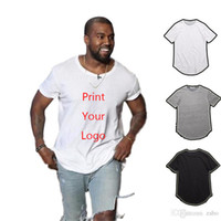 2019 homens DIY moda T-shirt longo T-shirt longa corda hip hop T-shirt DIY Harajuku rock homens e mulheres