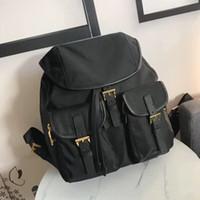 Atacado clássico retro mochila pára-quedas tecido impermeável mochila de nylon mochila de viagem das mulheres novas saco da forma bolsa de ombro mochila m