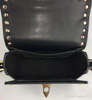 vendita superiore Fashion Designer 2018 Primo giorno Fashion Handbag Shoulderbag Bag Lady d'oro rivetto Incontri Data nero Valentine Borse di Ba