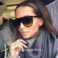 Nuovo Flat Top Occhiali da sole ovali delle donne del progettista di marca Vintage Kim Kardashian sottile, trasparente, Occhiali da sole per la femmina Oculos de sol