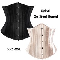 الكلاسيكية الدانتيل يصل 26 دوامة الصلب الجوفاء الحرير underbust مشد المشكل المرأة الأزياء ينحل corselete cincher الخصر XXS-XXL