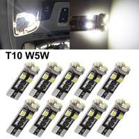 50PCS / لوط في canbus T10 8SMD 3528 1210 LED في canbus لا OBC خطأ 194 168 W5W T10 في canbus 8SMD LED الداخلية الخفيفة مصباح المصباح