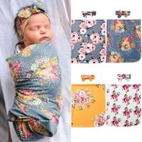 الوليد الزهور تحاضن قمط بطانية طفل بنين بنات حقيبة النوم التفاف العصابة القماش 0-3M