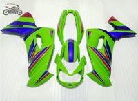 Set di carenatura personalizzata gratuita per Kawasaki Ninja 650R ER-6F 2006 2007 2008 Green Blue Motorcycle Fairings Kit 06 07 08 ER6F 650R