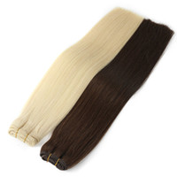 Double Drawn Virgin Human Hair 4 bundles Natural Black & Blo...