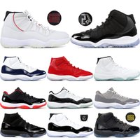11 Scarpe da Basket Palestra Red Platinum Tint Prom Night Concord 45 Space Jam 11s Bred Uomo Cap and Gown Sneakers US 5.5-13