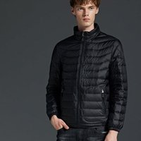 Mens Designer Down Coat Casual Male Solid Color Jackets Fash...