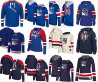 뉴욕 레인저스 까마귀 Ryan McDonagh 매트 Zuccarello 릭 Nash Henrik Lundqvist Chris Kreider Hockey Jersey Sweatshirt Statched