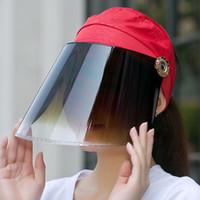 Anti UV Çok functionnal Anti-sis Maske Yüz shiled Koruyucu Yetişkin giriş saçakları İş Güvenliği Yüz Kalkanı İçin Maske çift taraflı
