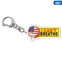 13style Ben KeyChain Harf Floyd Anahtarlık ABD Moda Akrilik Araç Anahtarlık kolye Takı hediyeler GGA3449 yazdır Breathe olamaz
