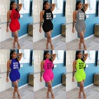 BLACK LIVES MATTER Summer Women Sexy Top Jumpsuits модные буквы тонкий комбинезон без рукавов танк тощие боди конфеты цвет комбинезоны D62208
