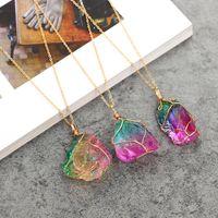 Punto de curación de cuarzo de cristal Chakra Bead Piedra de piedras preciosas Colgante Original Natural Estilo de piedra Collares Collares Collares de Joyería ZZC1641