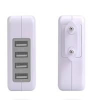 증권 DHL EU / US 플러그 벽 충전기 역 4 포트 USB 충전 충전기 여행 AC 전원 충전기 어댑터를 들어 화웨이 샤오 미 쇼핑