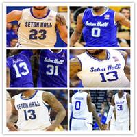Personalizado 2021 faculdade basquete seton hall jerseys mamukelahvili michael nzei myles powell quincy mcknight myles cale delgado gill delgado