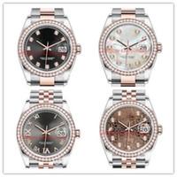 Neueste Version Luxus Dame Diamant Uhren 36mm 126284 126283 126281 126233 126234 126231 Automatische Bewegung Mode Herrenuhr Armbanduhren
