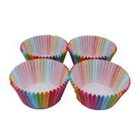 Cucina cottura 100 pz Rainbow Carta Carta Cake Cup Cupcake Paper Muffin Party Vassoio Bakeware Stands Cases Cupcake Liners Decorazione del partito di nozze