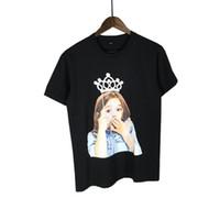 الأزياء-ذروة ad lav adlv الطفل الوجه t-shirt تاج فوجئ التعبير فتاة الطباعة طفل الرجال النساء الهيب هوب القطن المحملات