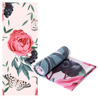 New Gym Yoga Training Mats Towels Microfiber Peony Peacock P...