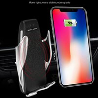 S5 Automatic Clamping Wireless Car Charger For iphone Androi...