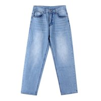 European and American light blue plus size jeans men' s ...