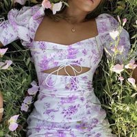 For Love Womens Purple Dress Vestidos Hollow Out Sexy White ...