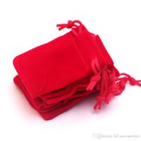 3 Tamaños paquete de regalo presente regalo de la bolsa de terciopelo rojo ajuste para collar pulsera pendientes Navidad Bolsas