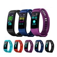 Smart Armband Y5 Armbänder Fitness Tracker Farbdisplay Herzfrequenz Schlaf Schrittzähler Sport Wasserdichte Aktivitäts-Tracker für iPhone Samsung