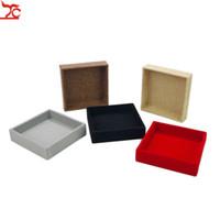 Exhibición de la joyería bandeja de la bandeja del anillo de lino franela de visualización BoxAccessories bandeja de exhibición de la joyería joyería