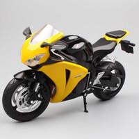 1/12 Automaxx Honda CBR1000RR Fireblade CBR de la motocicleta de juguete Funde Vehículos Modelos a escala bicicleta de carreras en miniatura para niños Y200109 niño