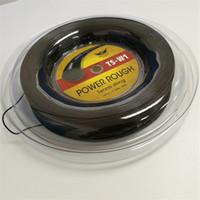 Черная катушка хорошее качество алу мощность грубый большой фейерверк теннис строка полиэстер для ракетки теннис 200 м катушки 660ft
