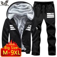 ビッグサイズ7xL 8xL 9xLブランド男性セット秋冬スポーツスーツスウェットシャツ+スウェットパンツメンズ服2個セットTracksuit1