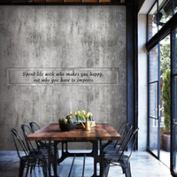 Retro distressed cement brick wall wallpaper 3d industrial s...