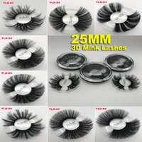 NOVA 25mm Cílios Postiços 3D Cílios Grosso Faixa de Cruzamento Extensão Dos Cílios Maquiagem Longo Cílios Vison Dramático