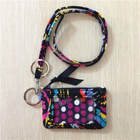 Sale Iconic VB ID Zip Case with Lanyard Cotton VB Card Holde...