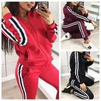 Tracksuit Long Sleeve Hooded Sweatshirts Ankle Length Pants ...
